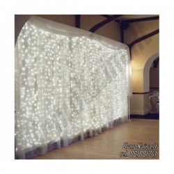 LED girlianda Užuolaida - Krioklys 120 lempučių STANDART 2,7 x 1,5 m.