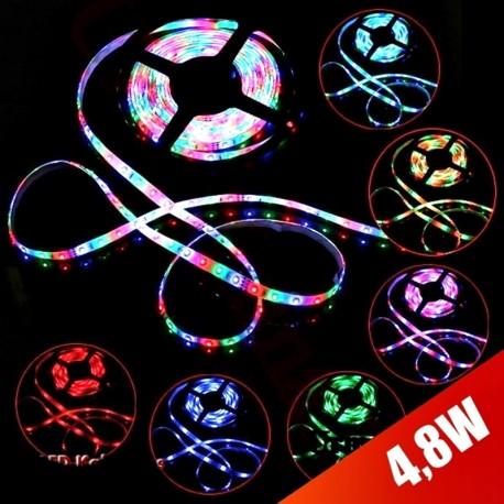 LED juosta 3528 RGB, spalvotas LED rinkinys