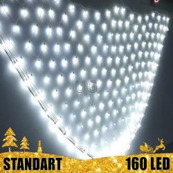 160 LED burbuliukų Girlianda Užuolaida - Tinklas 3 x 1 m.