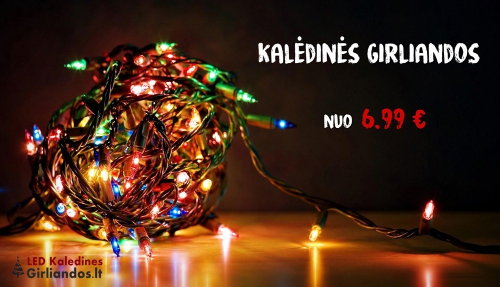 Led kaledines girliandos | Led girliandos internetu | Led girliandos eglutei