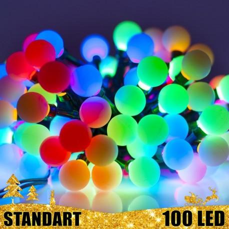 Kalėdinė LED girlianda burbuliukai 100 lempučių  | LED Kalėdinės lemputės