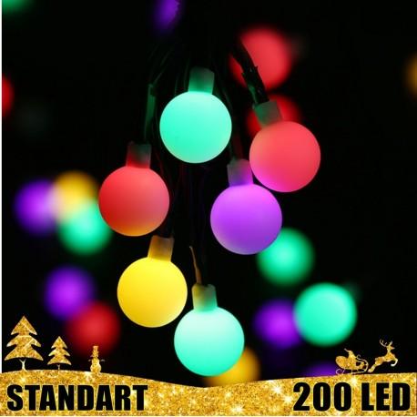 Kalėdinė LED girlianda burbuliukai 200 lempučių  | LED Kalėdinės lemputės
