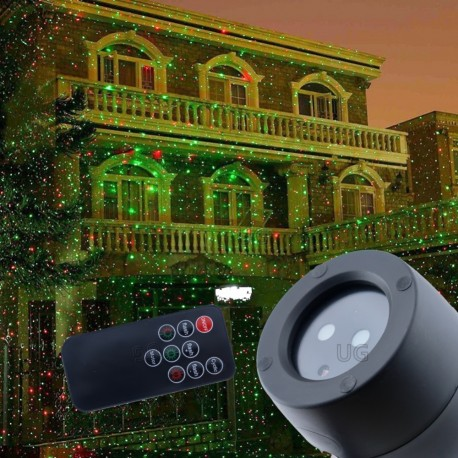 azerinis lauko projektorius L04 | Kalėdinis lauko lazeris