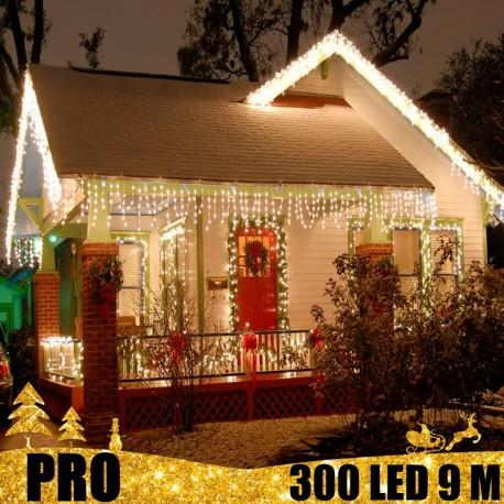 Profesionali lauko girlianda varvekliai 300 LED PRO CW