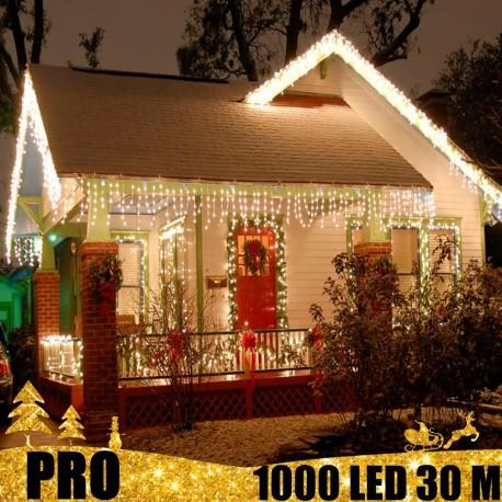 Profesionali lauko girlianda varvekliai 1000 LED PRO CW