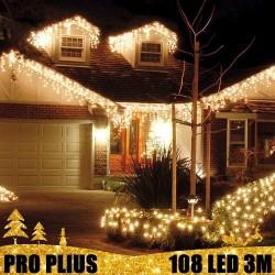 Profesionali lauko girlianda varvekliai 108 LED PRO PLIUS WW