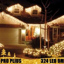 Profesionali lauko girlianda varvekliai 324 LED PRO PLIUS WW