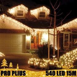Profesionali lauko girlianda varvekliai 540 LED PRO PLIUS WW