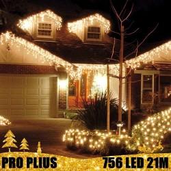 Profesionali lauko girlianda varvekliai 756 LED PRO PLIUS WW