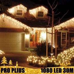 Profesionali lauko girlianda varvekliai 1080 LED PRO PLIUS WW