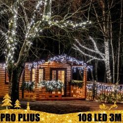Profesionali lauko girlianda varvekliai 108 LED PRO PLIUS CW
