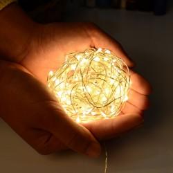 Vielinė LED girlianda su baterijomis 100 LED