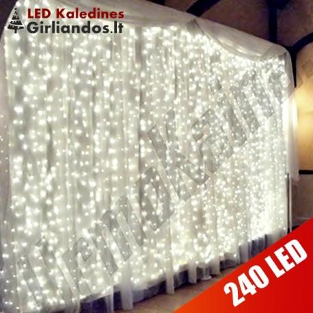 LED girlianda Užuolaida - Krioklys 240 lempučių STANDART 4 x 1,5 m.