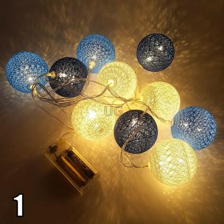LED medvilniniai burbulai | Medvilninių burbulų girlianda S