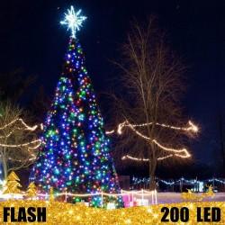 Girlianda 200 LED FLASH | LED Lauko girlianda