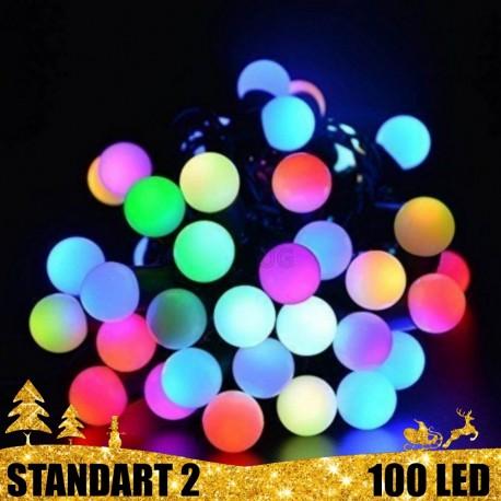 Girlianda Burbulai 100 LED STANDART 2 | LED Lauko girlianda burbulai