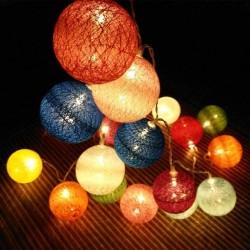 LED medvilniniai burbulai | Medvilninių burbulų girlianda M