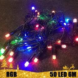Kalėdinė RGB LED girlianda 50 lempučių  | LED Kalėdinės lemputės