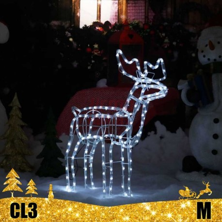 LED 3D šviečiantis Elnias M | Kalėdinė dekoracija