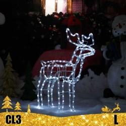 LED 3D šviečiantis Elnias L | Judanti kalėdinė dekoracija