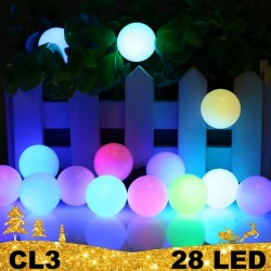 Kalėdinė LED girlianda burbulai 28 lempučių