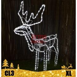 LED dekoracija 3D šviečiantis elnias XL judantis CL3