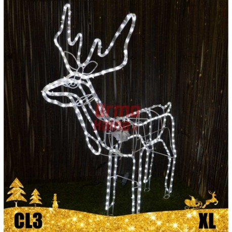 LED 3D šviečiantis- judantis Elnias XL | Kalėdinė dekoracija