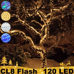 120 LED profesionali lauko girlianda PRO PLIUS FLASH CL8 IP67