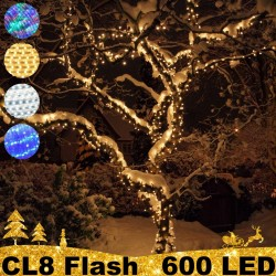 600 LED profesionali lauko girlianda PRO PLIUS FLASH CL8 IP67