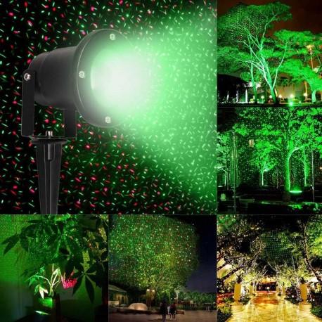 Šviesos efektų lazeris laukui su pultu | Žalias - raudonas lazeris