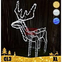LED dekoracija 3D švečiantis elnias XL CL3