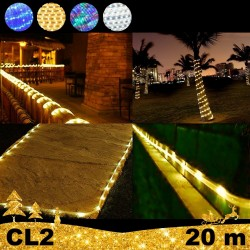 LED Girlianda vamzdelyje Rope 20 m CL2
