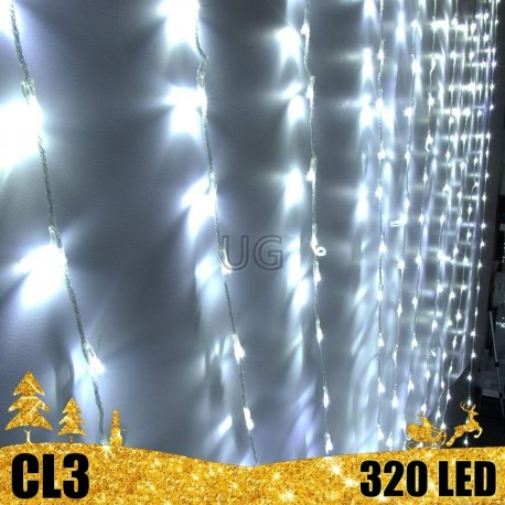 320 LED girlianda Užuolaida - Krioklys 3x3 m CL3