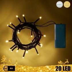 20 LED girlianda su baterijomis