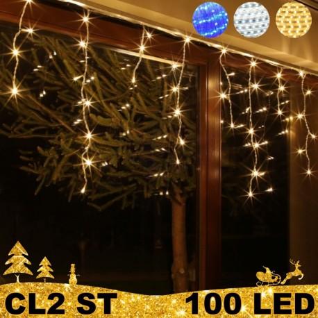 100 LED lauko girlianda varvekliai ECO ST CL2