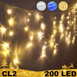 200 LED lauko girlianda varvekliai ECO CL2