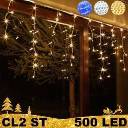 500 LED lauko girlianda varvekliai ECO ST CL2