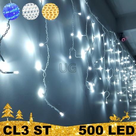 Girlianda Varvekliai 500 LED STANDART be režimų | LED Lauko girlianda