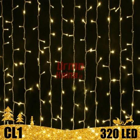 320 LED girlianda Užuolaida - Krioklys 3x3 m CL1