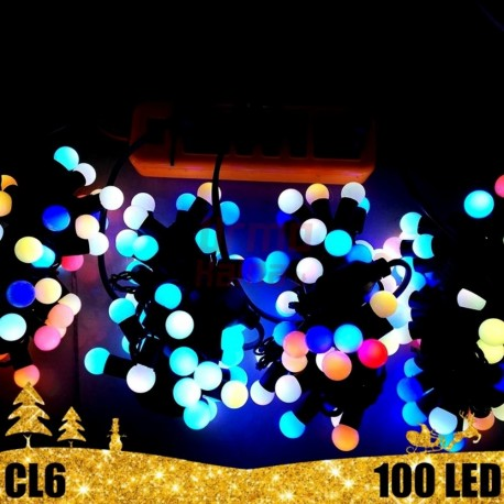 100 LED burbulukų girlianda RGB SPC 31 V