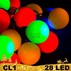 28 LED girlianda burbulai BULK CL1