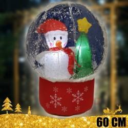 Sniego senis su krintančiu sniegu 60 cm
