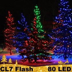 80 LED profesionali lauko girlianda PRO FLASH CL7