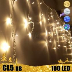 100 LED lauko girlianda varvekliai STANDART PLIUS RB CL5