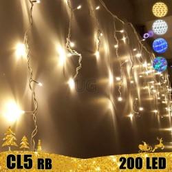 200 LED lauko girlianda varvekliai STANDART PLIUS RB CL5