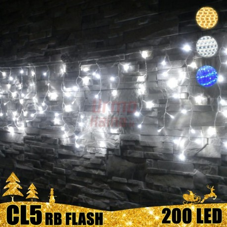 200 LED girlianda varvekliai STANDART PLIUS RB FLASH CL5