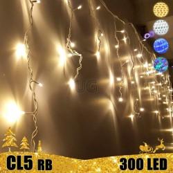 300 LED lauko girlianda varvekliai STANDART PLIUS RB CL5
