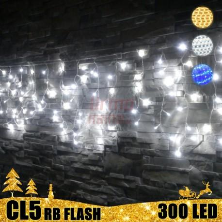 300 LED girlianda varvekliai STANDART PLIUS RB FLASH CL5