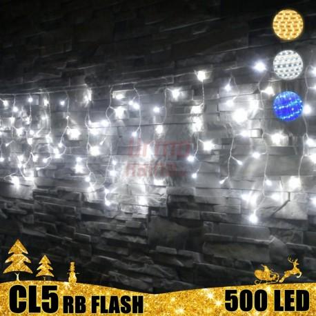 500 LED girlianda varvekliai STANDART PLIUS RB FLASH CL5