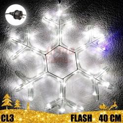 Kalėdinė LED dekoracija Snaigė 40cm FLASH CL3
